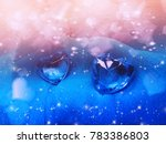 crystal gem two sapphire hearts ... | Shutterstock . vector #783386803