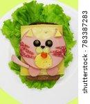 creative sandwich snack with... | Shutterstock . vector #783387283