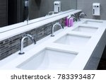 toilet sink interior of public... | Shutterstock . vector #783393487