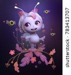 3d character cartoon cute fairy ... | Shutterstock . vector #783413707