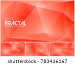 fractal abstract background.... | Shutterstock .eps vector #783416167