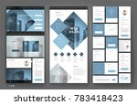 website template design with... | Shutterstock .eps vector #783418423