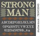 vector set of handcrafted fonts ... | Shutterstock .eps vector #783453043