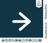 arrow next icon | Shutterstock .eps vector #783463393
