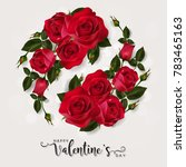valentine's day greeting card... | Shutterstock .eps vector #783465163