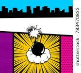 cartoon funny vintage strip... | Shutterstock .eps vector #783470833