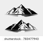 mountain range or rock. nature... | Shutterstock .eps vector #783477943