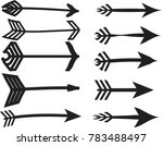 set of abstract arrow vector | Shutterstock .eps vector #783488497