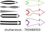 set of abstract arrow vector | Shutterstock .eps vector #783488503