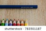 discipline concept. discipline... | Shutterstock . vector #783501187