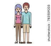 couple in colored crayon... | Shutterstock .eps vector #783509203