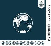 earth logo icon | Shutterstock .eps vector #783513073