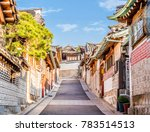 Traditional Korean Style Architecture Bukchon - Fine Art prints