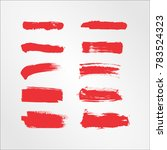 red brush stroke and texture.... | Shutterstock .eps vector #783524323