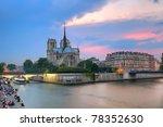 Notre Dame De Paris At Dusk