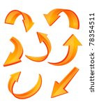 set of glossy orange arrow... | Shutterstock . vector #78354511