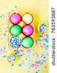 easter  colorful eggs  sweets ... | Shutterstock . vector #783593887