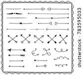 sketchy arrow set. hand drawn... | Shutterstock .eps vector #783595033
