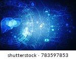 realistic human liver 2d... | Shutterstock . vector #783597853