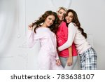 girls in pajamas. beautiful... | Shutterstock . vector #783638107