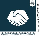 symbol of handshake in circle.... | Shutterstock .eps vector #783677197