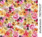 printfloral seamless pattern.... | Shutterstock . vector #783704137