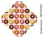 frame with donuts pattern... | Shutterstock .eps vector #783705367