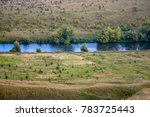 Small photo of The valley of the Krasivaya Mecha River. Efremovsky district, Tula region, Russia