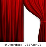 naturalistic image of curtain ... | Shutterstock .eps vector #783725473