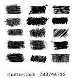 set of simple bold hatching... | Shutterstock . vector #783746713