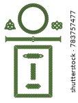 set of celtic knot vector... | Shutterstock .eps vector #783757477