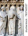 paris  france  statues of st... | Shutterstock . vector #783760537