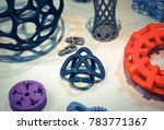 abstract models printed by 3d... | Shutterstock . vector #783771367