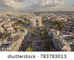 cityscape of paris. aerial view ... | Shutterstock . vector #783783013