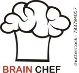 brain chef logo vector | Shutterstock .eps vector #783784057