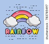 nice rainbow with cloud in the... | Shutterstock .eps vector #783785497