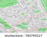 vector map of berlin city... | Shutterstock .eps vector #783795217
