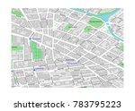 vector map of berlin city... | Shutterstock .eps vector #783795223