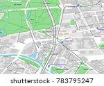 vector city map of berlin near... | Shutterstock .eps vector #783795247