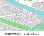 vector map of berlin city... | Shutterstock .eps vector #783795613