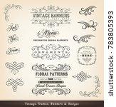 vintage calligraphic design... | Shutterstock .eps vector #783805393