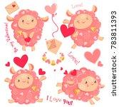 vector illustration valentine... | Shutterstock .eps vector #783811393