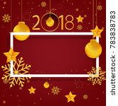 abstract gold happy new year...   Shutterstock .eps vector #783838783