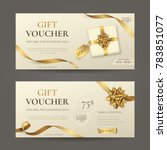 vector set of luxury gift... | Shutterstock .eps vector #783851077