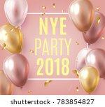 vector stock elegant pink... | Shutterstock .eps vector #783854827