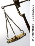 Small photo of Old Golden weighing scale balance