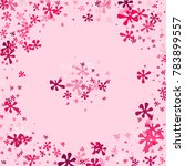 pink blots on a pink background.... | Shutterstock .eps vector #783899557
