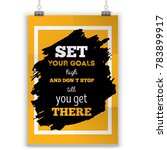 set up your goals motivational... | Shutterstock .eps vector #783899917