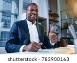 this is success. low angle... | Shutterstock . vector #783900163