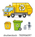 garbage truck  recycling... | Shutterstock .eps vector #783906097
